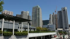 Moscone Center and St. Regis Hotel - San Francisco Stock Footage
