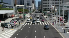 Howard Street and Moscone Center - San Francisco Stock Footage