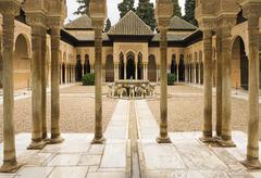 Stock Photo of Pillared portico surrounding courtyard