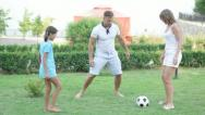 Family soccer Stock Footage