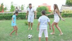 Kick the ball - stock footage