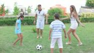 Kick the ball Stock Footage
