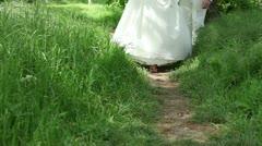 A narrow path Stock Footage