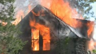 Stock Footage - Emergency Scene - amazing closeup of burning home - flames Stock Footage