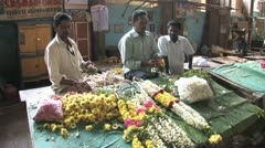 Hindu Garland Makers Stock Footage
