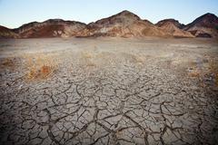 Barren earth in Death Valley Stock Photos
