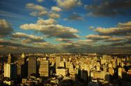 Sao Paulo Brazil skyline sunset Stock Photos
