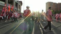 Estadio Vicente Calderon before match Copa Del Rey Final 2012 05 handheld Stock Footage