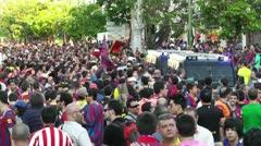 Estadio Vicente Calderon before match Copa Del Rey Final 2012 07 handheld Stock Footage
