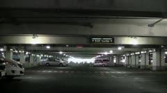 Underground parking garage Stock Footage