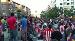 Estadio Vicente Calderon before match Copa Del Rey Final 2012 09 Barca Fans h Stock Footage