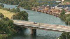 Traffic at a Bridge Stock Footage