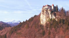 A beautiful castle in the Alps, Slovenia. - stock footage