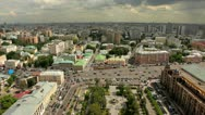 MOSCOW - JULY 2012: View from the heights on the Kudrinskaya square. Stock Footage