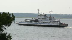 Ferry Crosses Channel Stock Footage
