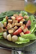 Soy tempeh salad - stock photo