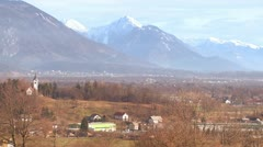 Stock Video Footage of The countryside of Slovenia or an Eastern European nation.