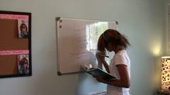 Homeschool Geometry Student Stock Footage
