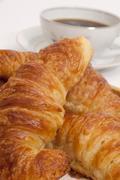 Close up of fresh croissants Stock Photos