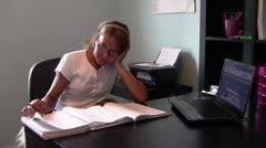 Homeschool Student Stock Footage