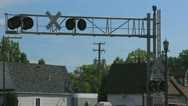 Stock Video Footage of Railroad crossing