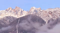 The Alps in winter. - stock footage