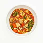 Bowl of alphabet soup Stock Photos