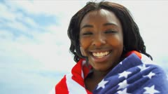 Stock Video Footage of Smiling African American Beach Girl