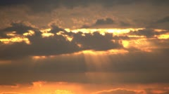 Clouds at Sunset, Timelapse, Time Lapse Stock Footage