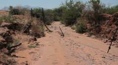 Footprints at the border (HD) C Stock Footage