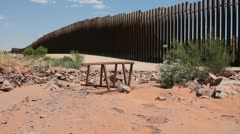 Fence along the border (HD) C Stock Footage
