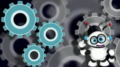 robot - stock footage