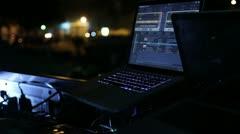 Dj equipment (laptop _2) Stock Footage