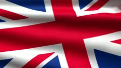British flag background Stock Footage