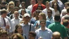 Crowd of people walking on the street in New York City 60p fast time lapse Stock Footage