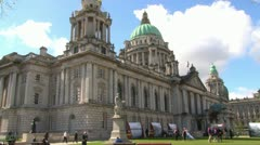 Belfast City Hall Gardens Stock Footage