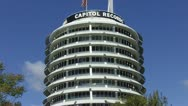 Stock Video Footage of Capitol Records Building In Hollywood CA