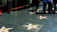 Stock Video Footage of Tourist's Feet On Hollywood Walk Of Fame 2
