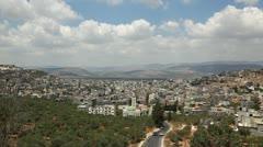 The Arab village Arrabe in lower Galilee, Israel Stock Footage
