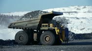 Stock Video Footage of stock footage large dump truck working in a quarry huge trucks career