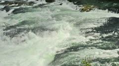 Water of Rhinefall in Switzerland Stock Footage
