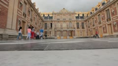 Palace of Versailles courtyard in Paris (HD) c Stock Footage
