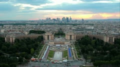 Time lapse of Paris from the Eiffel Tower (HD) Stock Footage