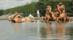 Neptune Fountain in Versailles Gardens (HD) c Stock Footage