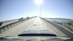 Point of view time-lapse driving over the Coronado Bridge in San Diego, Stock Footage