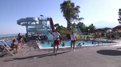 Water gym, Water aerobics. Stock Footage