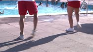 Stock Video Footage of Water gym, instructors.