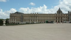 Pan of the back of Versailles (HD) k Stock Footage