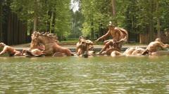 Neptune fountain in Versailles gardens (HD) k Stock Footage