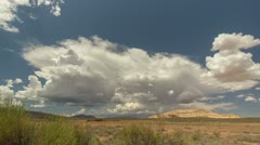 HD 30p wide - A desert monsoon storm cell develops in time lapse Stock Footage